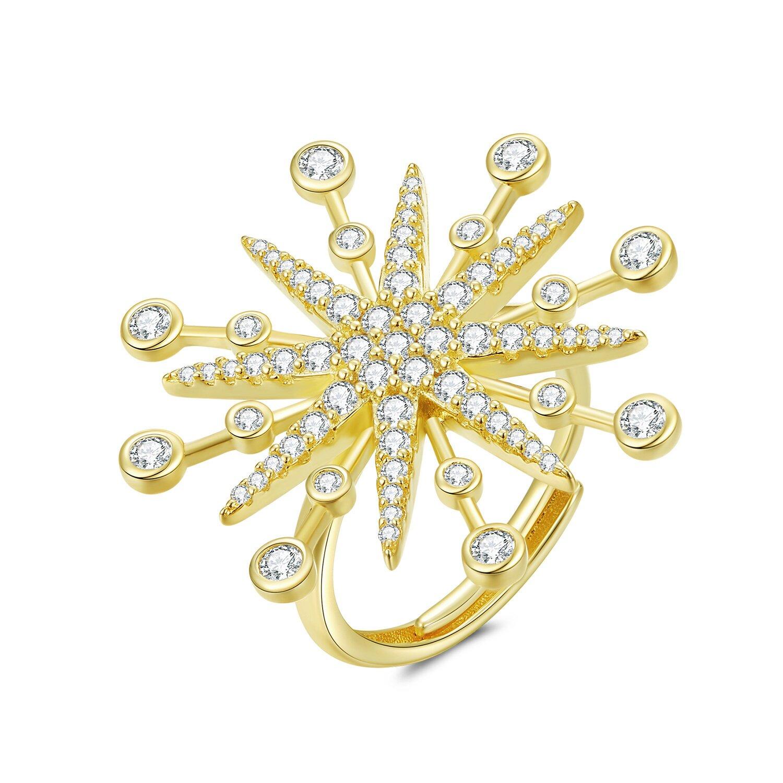 inel din argint reglabil amazing gold star 70930 4