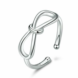 Inel din argint reglabil Bowknot
