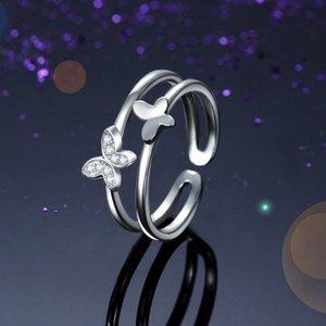 Inel din argint Butterfly in Love