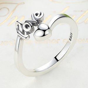 Inel reglabil din argint reglabil cu Dragoste