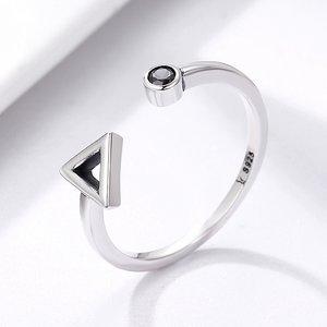 Inel din argint reglabil Geometric Shape