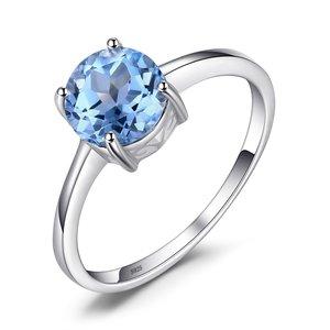 Inel din argint Round Blue Topaz