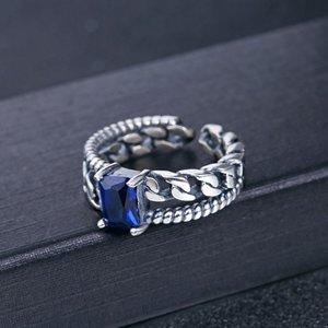 Inel reglabil din argint Royal Blue