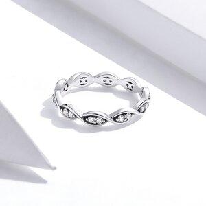 Inel din argint Shiny Swirl Roped