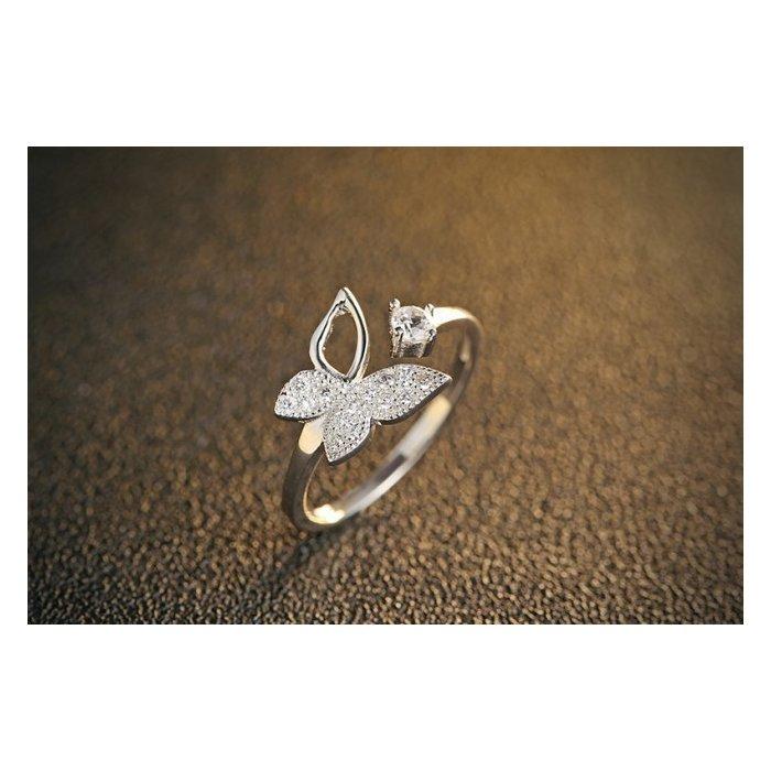 Inel din argint Silver Butterfly poza 2021