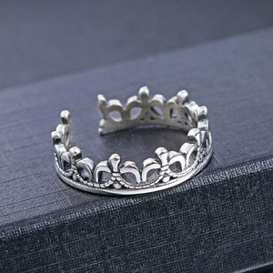 Inel reglabil din argint Silver Crown