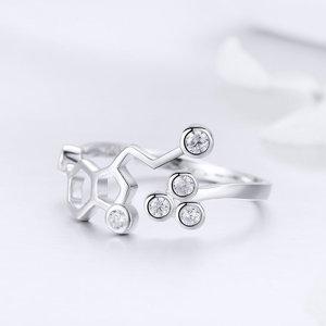 Inel din argint Silver Honeycomb