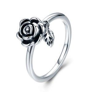 Inel din argint Silver Rose Flower