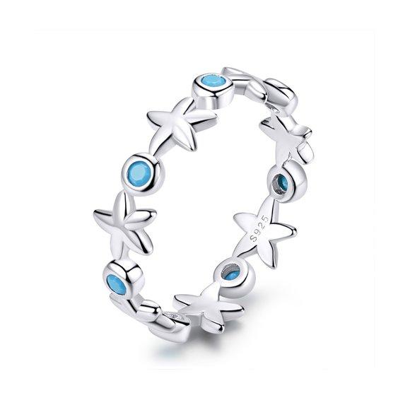 Inel din argint Silver Starfish Ring