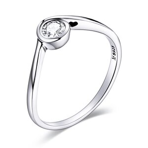 Inel din argint Simple Crystal