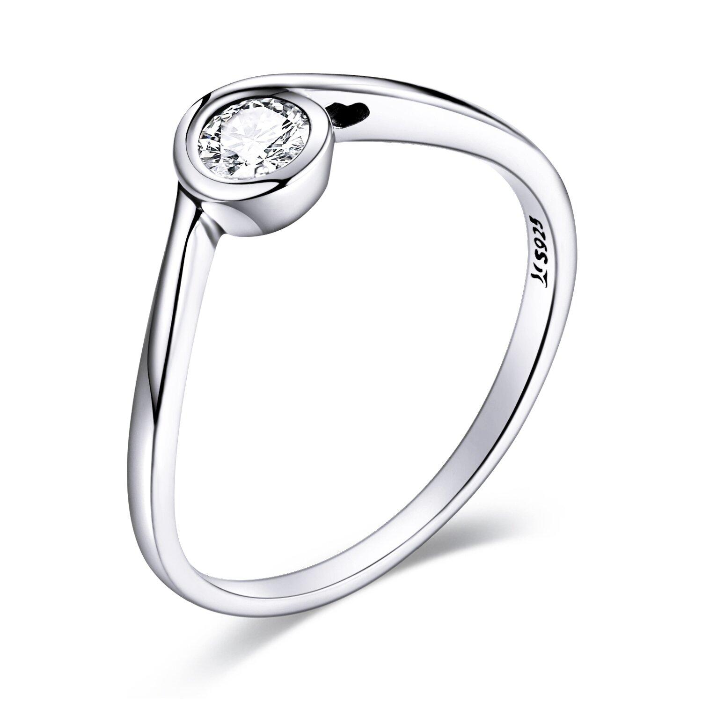 inel din argint simple crystal 89866 4