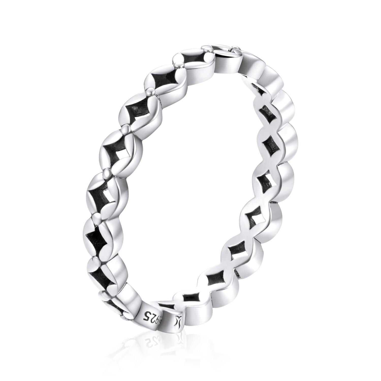 inel din argint simple flower band 73738 4