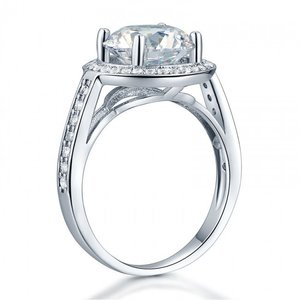 Inel din argint Simple Round Diamond