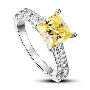 Inel din argint Simple Yellow Engagement