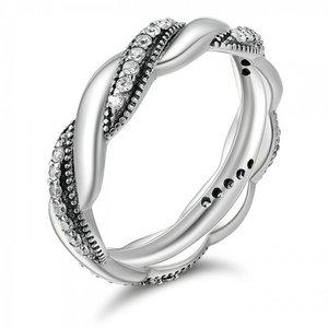 Inel din argint Sparkling Twist