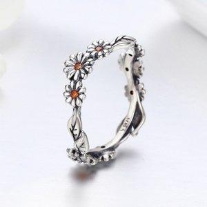 Inel din argint Spring Daisies