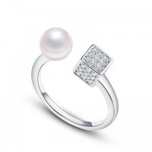 Inel din argint Stylish Pearl