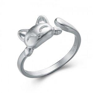 Inel reglabil din argint Sweet Cat