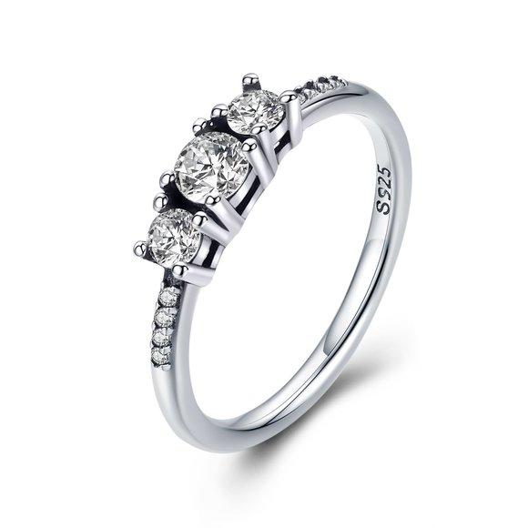 Inel din argint Trio Fairytale Ring