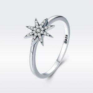 Inel din argint Unique Sparkling Star