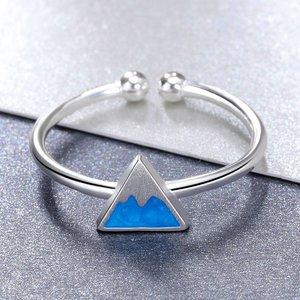 Inel reglabil din argint Blue Mountain