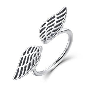 Inel reglabil din argint cu Aripi Uimitoare