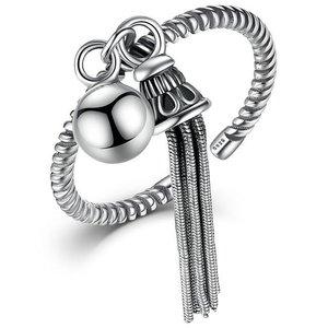 Inel reglabil din argint cu Franjuri Argintii