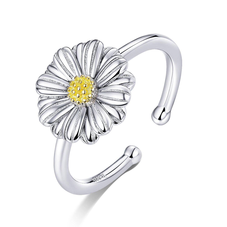 inel reglabil din argint cute daisy 80221 4