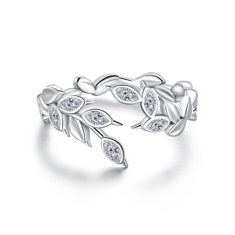 inel reglabil din argint falling leafs 81160 4