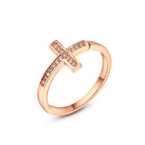 Inel reglabil din argint Golden Fashion Cross
