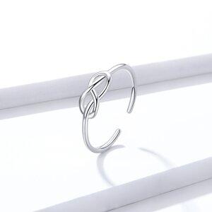 Inel reglabil din argint Infinity Rope