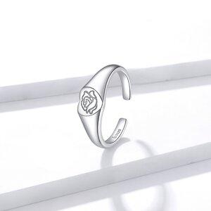 Inel reglabil din argint Loved Rose