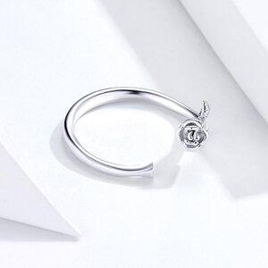 Inel reglabil din argint Silver Rose