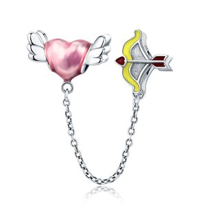 Talisman cu lantisor de siguranta din argint Cupidon's Heart