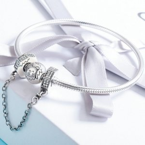 Lant de siguranta din argint Fashion Geometry