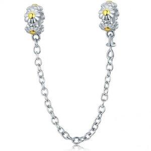 Lantisor de siguranta din argint Daisy Flower