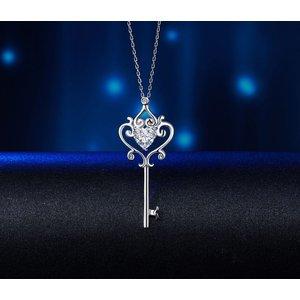 Pandantiv cu lantisor din argint Love Heart Key