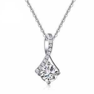 Pandantiv cu lantisor din argint Lovely Diamond Drop