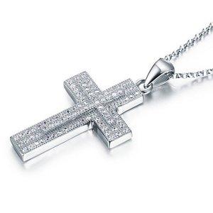 Pandantiv cu lantisor din argint Diamond Cross