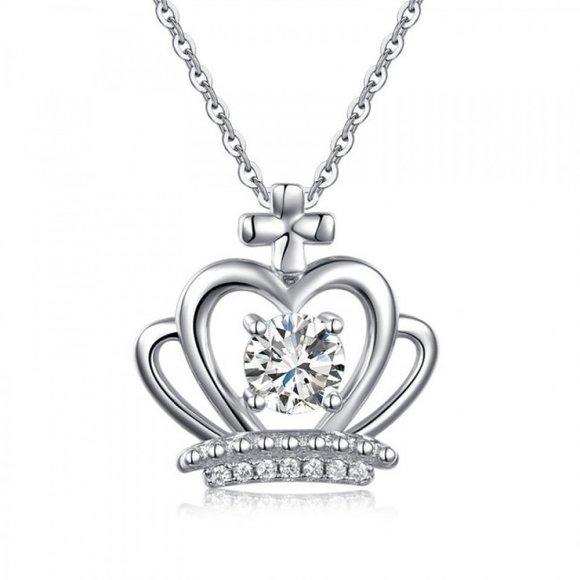 Pandantiv cu lantisor din argint Silver Crown
