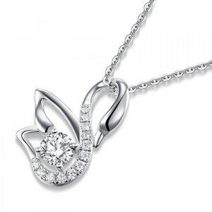 Pandantiv cu lantisor din argint Silver Swan