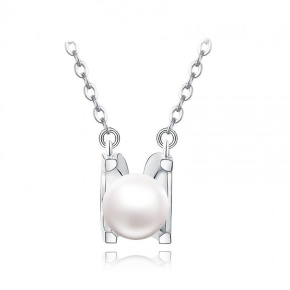 Pandativ cu lantisor din argint Charming Pearl