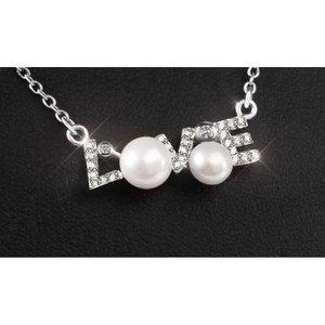 Pandativ cu lantisor din argint Loving Pearls