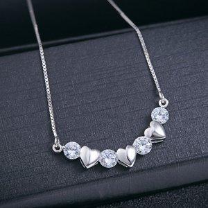 Pandativ cu lantisor din argint Multiple Hearts