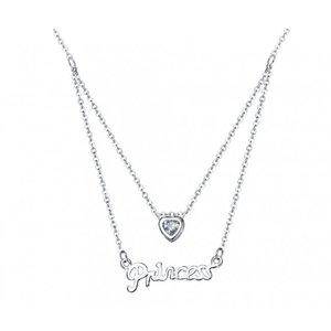 Pandativ cu lantisor din argint Princess Heart