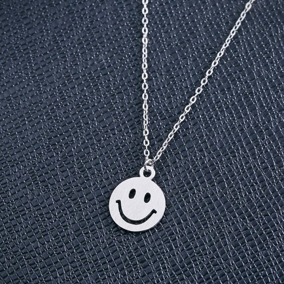Pandativ cu lantisor din argint Smiley Face