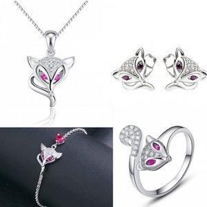 Set bijuterii din argint Foxy Eyes