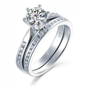 Set inele din argint Diamond Duo Ring