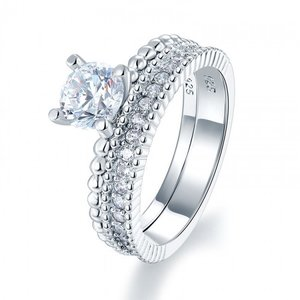 Set inele din argint Diamond Fine Ring Set