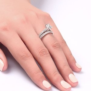 Set inele din argint Double Twisted Diamonds